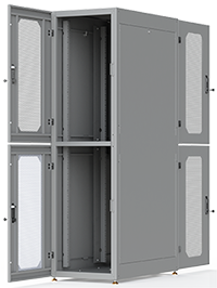 Dual Bay Modular Data Cabinet - Colocation